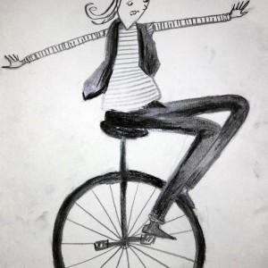 Einradfahren_Skizze