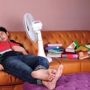 Student am Schlafen