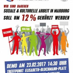Demo gegen kürzungen