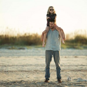 """Mckenna Grace as """"Mary"""" and Chris Evans as """"Frank"""" in the film GIFTED. Photo by Wilson Webb. © 2017 Twentieth Century Fox Film Corporation All Rights Reserved."""