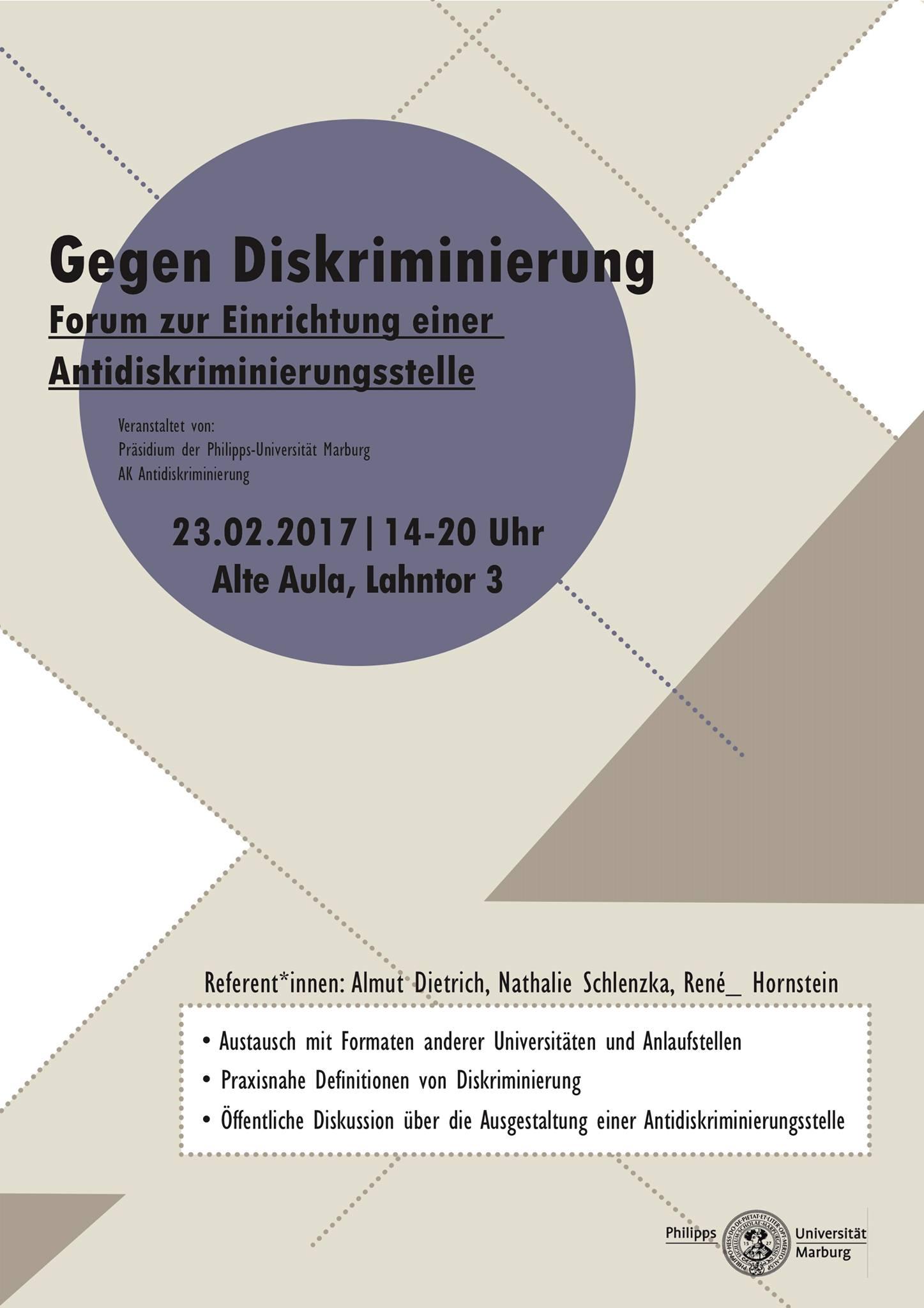 Forum zur Einrichtung einer Antidiskriminierungsstelle