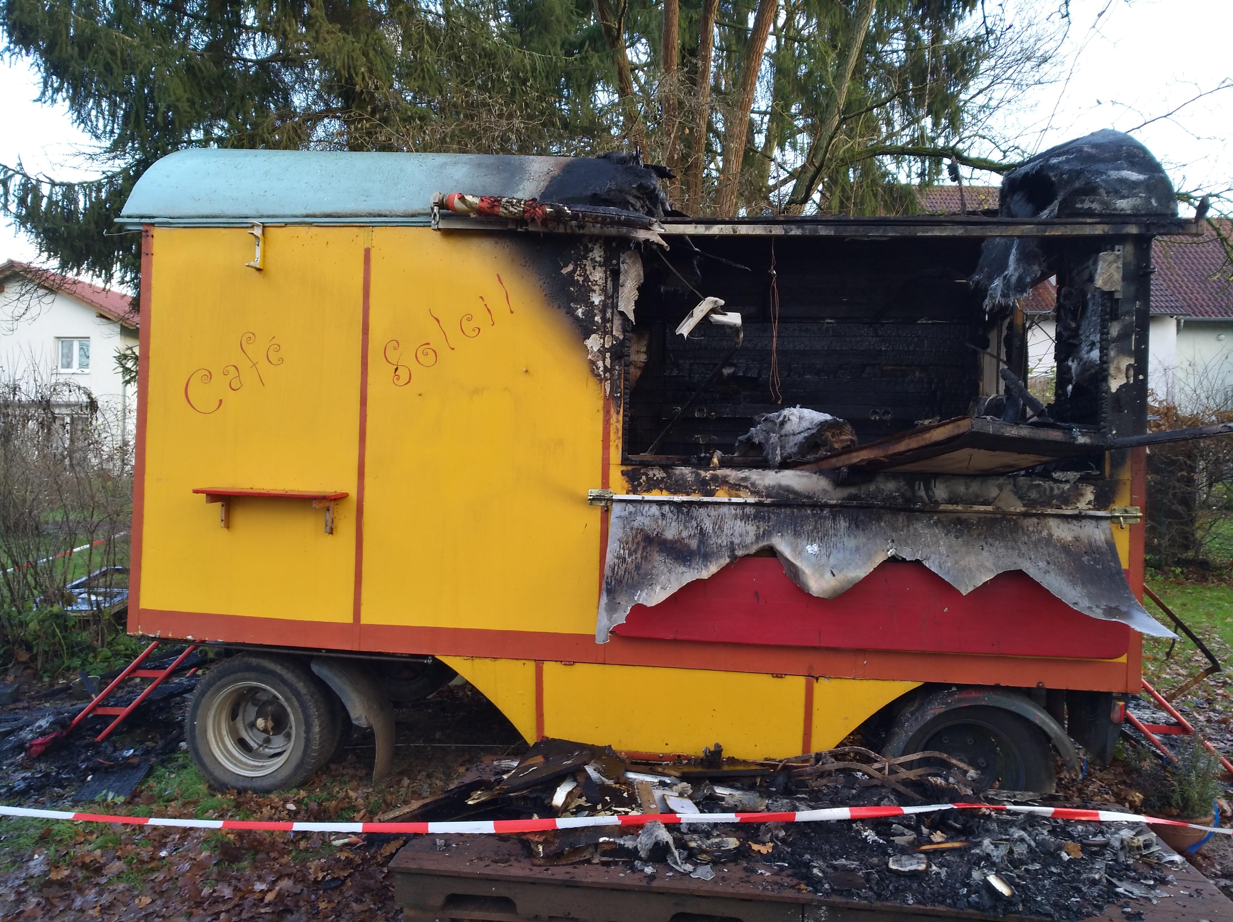 Café Soleil durch Brand zerstört